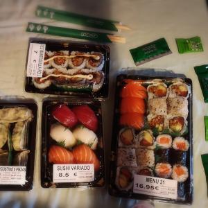 久々のお寿司と、3人でモール内のお散歩