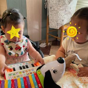 年子と旅行2 - 旅行先でブロ友さんへ会う。赤ちゃん3人オーケストラ?!!