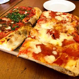 ハジレーンでスティックピザとプラウンヌードルはしご