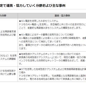 奈良県とNTTドコモ、地域包括ケアシステムで連携