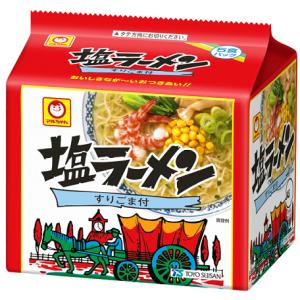 月曜断食ダイエット【52日目】インスタント麺で一番好きかも!まるちゃんの塩ラーメン!カロリー気になる…