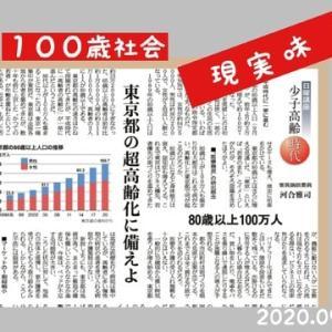 東京都80歳以上100万人、100歳社会の現実味