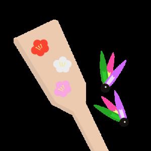 羽子板のイラスト 2
