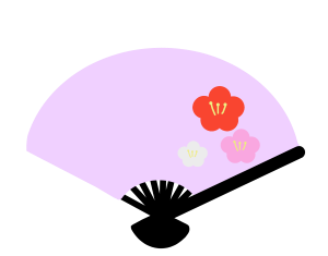 扇子のイラスト 2