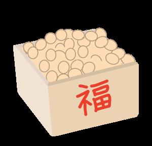 節分 豆のイラスト