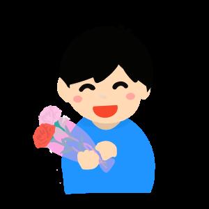母の日のイラスト(男の子)