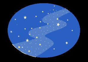 七夕 天の川のイラスト