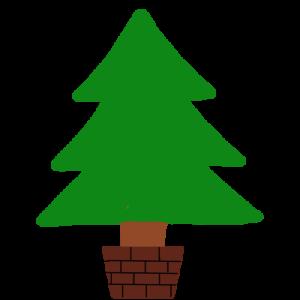 クリスマスツリーのイラスト (飾り無し)