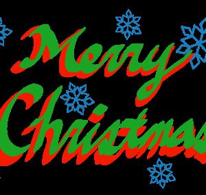 クリスマスグリーティングのイラスト(クリスマスカラー)
