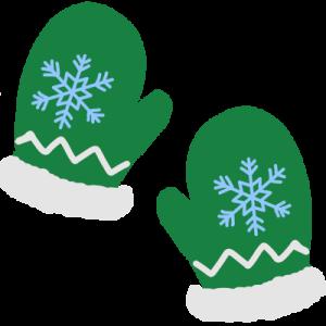 緑の手袋イラスト(クリスマス)
