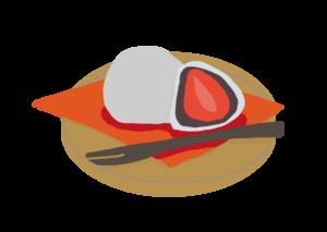 イチゴ大福のイラスト