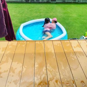 お庭でプール おうち時間にぴったりのプール!