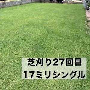 芝刈り27回目 芝生の成長が遅くなる季節