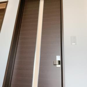 リビングのドア 北側玄関に少しでも光を!