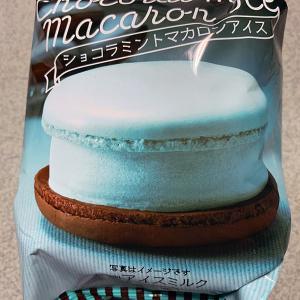 セブンイレブンのショコラミントマカロンアイスを食べてみた