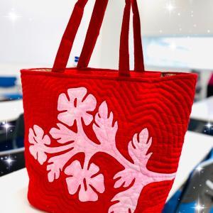 ハワイアンなレッスンバッグが素敵に完成です!
