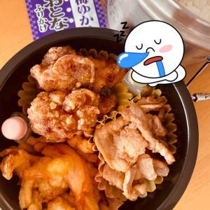 かき揚げ弁当〜!