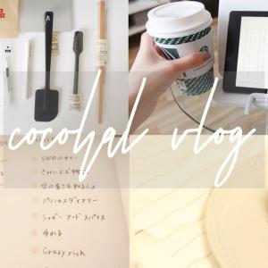 [vlog]無印良品週間。手帳カバーの使い方。視聴者さまのオススメ映画。モチベーションを上げる時間。りんごケーキと手作りパスタ。