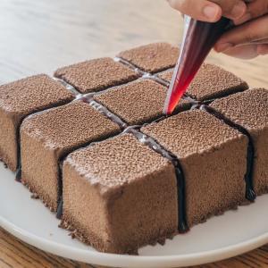 チョコレートベルベットケーキの作り方  Velvet Texture Chocolate Cake Recipe