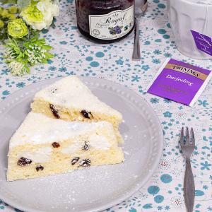 レンジで( ⸝⸝•ᴗ•⸝⸝ ) クリームチーズとレーズンの蒸しケーキ♪