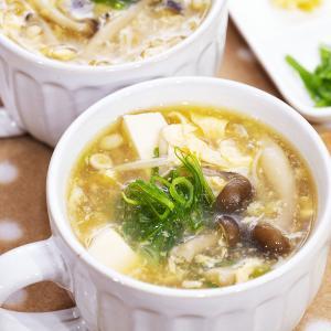 風邪引きさんにも!生姜でポカポカ( ⁎ᵕᴗᵕ⁎ )ふんわり卵と豆腐のとろみスープ♪