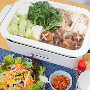 簡単鍋♪キャベツとキノコたっぷり♡豚肉の味噌鍋(*゚▽゚*)