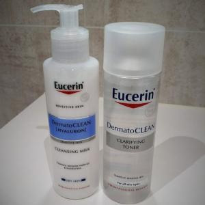 スキンケア用品はヨーロッパ薬局推奨のEucerinを使っています(無香料)