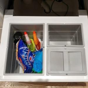 台所のシンク下は、ゴミ箱の定位置です
