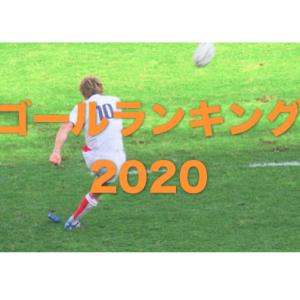 ゴールランキング2020 … 関東大学対抗戦 関東大学リーグ戦 関西大学ラグビー