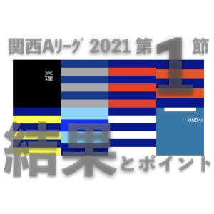 関西Aリーグ 2021 第1節 / 結果とポイント … 同志社が関西大に 9/18土終了時点