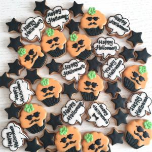 HALLOWEENのアイシングクッキー#12