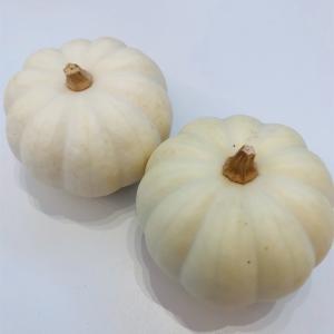 30円の白いかぼちゃ。くり抜いてみる。#19