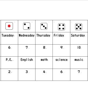 5学年 We can 1 unit3 What do you have on Monday? もしも学校がこんなところだったらゲーム