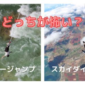 バンジージャンプとスカイダイビングはどちらが怖い?
