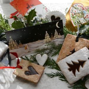 クリスマスカードに添えて贈る ジャムサンドクッキー (動画)LUNETTES A LA CONFITURE