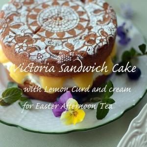 春の一日レッスンのお知らせ                    【Victoria Sandwich Cake with Lemon Curd】