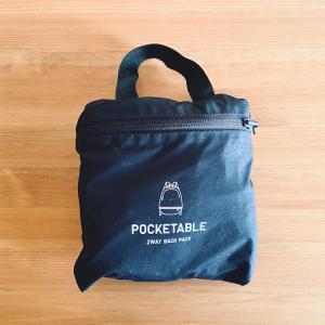 ユニクロのポケッタブルバックパックをメインバッグとして使っています
