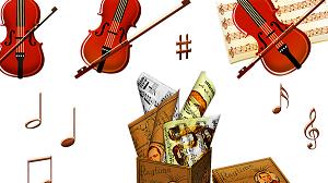 バイオリンを持つ