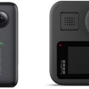 VR360度カメラ比較 THETA Z1/insta360 ONE X/GoPro MAX/ KanDao QOOCAM 8K