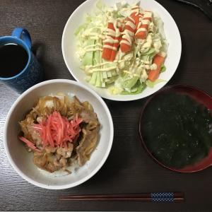 【節約自炊】豚丼 玉ねぎ入り206円