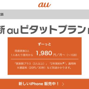 新auピタットプランNで格安携帯料金 + iPadのタブレットデータシェアプラン