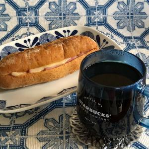 ☆スタバ☆のパンでおうちランチ