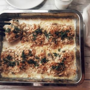 白身魚のアーモンドクリーム焼き