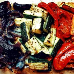 バルサミコ酢で和えるグリル野菜