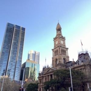 タウンホール、QVB、セントアンドリュース大聖堂@シドニー