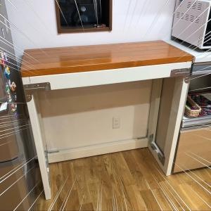 キッチンの棚をDIY ゴミ箱をすっきり収納③