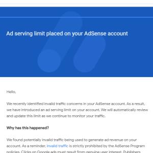 【心当たりがない人向け】Googleアドセンスの広告配信制限から解除まで