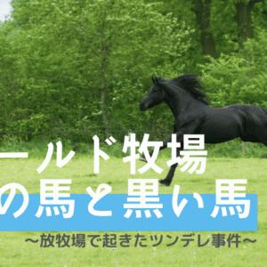 ワールド牧場の放牧場にいたツンデレ馬 ~金髪馬も登場~