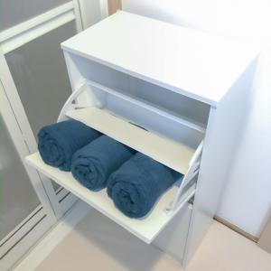 2999円でスッキリ解決!バスタオル収納アイデア|IKEAのアレを使おう!