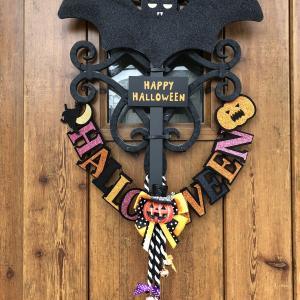 Halloween 玄関前のデコレーション